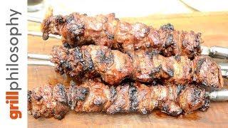 ΠΡΟΒΑΤΙΝΑ  ΚΟΝΤΟΣΟΥΒΛΙ ΣΕ ΓΑΛΑ - (Mutton meat rod in milk - ENG subs)