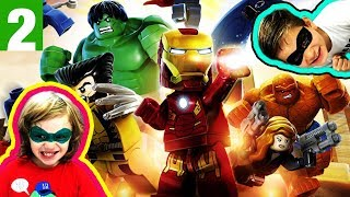 IRON MAN HULK Heroes United GAMEPLAY 2 - LEGO Marvel Superheroes Universe in Peril