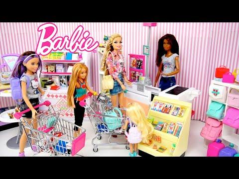 Xxx Mp4 Barbie Dolls Go School Supply Shopping Supermarket Toy Store For Kids 3gp Sex