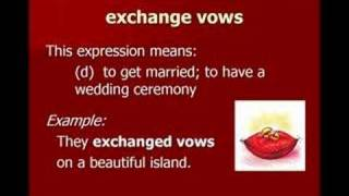 Love and Marriage - English Vocabulary