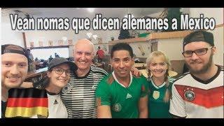 Alemanes mandan mensajito a los Mexicanos después del partido.