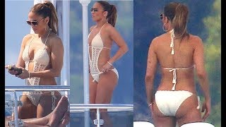 J Lo Shows Off Her Curves in Mer Culture Casablanca Crochet Monokini Swimsuit