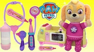 Paw Patrol Baby Skye Ouchie DocMcStuffins Ambulance and TOY Hospital LOL Surprise Dolls