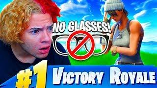 """NO *GLASSES* CHALLENGE! """"I CANT SEE"""" 😂 (HARDEST FORTNITE CHALLENGE EVER!) FORTNITE BATTLE ROYALE"""