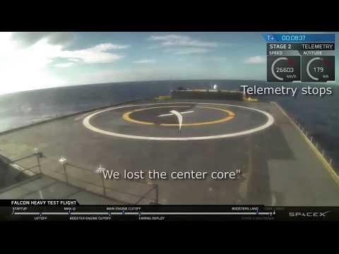 Xxx Mp4 Center Core Crash SpaceX Falcon Heavy February 2018 We Lost The Center Core 3gp Sex