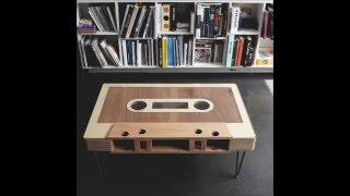 Cassette table, Vintage mixtape - by Woodds