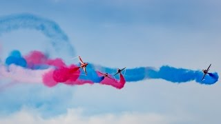 The RAF Red Arrows at Southport Air Show 2015 (Saturday display)