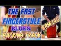 Fast FINGERSTYLE Blues Backing Track (Key of C)