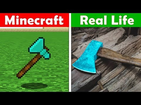 Xxx Mp4 MINECRAFT DIAMOND AXE IN REAL LIFE Minecraft Vs Real Life Animation CHALLENGE 3gp Sex