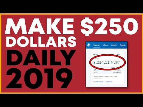 How To Make Money Online 2019! ($250 a Day!)