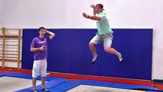 Trampoline Charades Battle | Dude Perfect