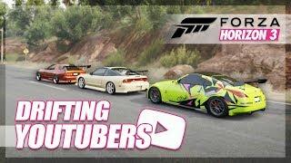 Forza Horizon 3 - Drift YouTubers Cars! (Adam LZ, TJ Hunt, Hertlife)
