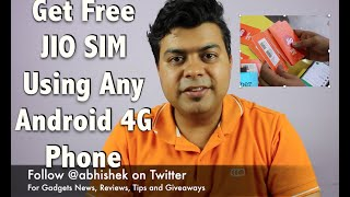 Hack: Get Free JIO SIM Using Any 4G Android Phone or Redmi Note 3