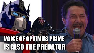 Voice of Optimus Prime is also The Predator (vocalizations by Peter Cullen)