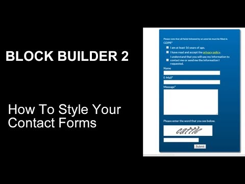 Style an SBI Contact Form