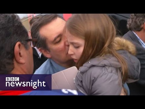 Ted Cruz kisses his daughter... it doesn't go well - BBC Newsnight