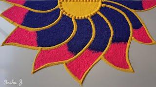 Very simple and beautiful rangoli design