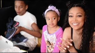 Singer Monica Brown hangs out with her children