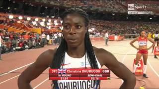 Finale 400 metri donne Pechino 2015 - Campionati del Mondo