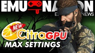 EMU-NATION: Citra GPU 3DS Emulator MAX SETTINGS! [Metal Gear 3D]