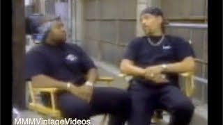 Ice Cube & Ice T. on the Set of Their Movie