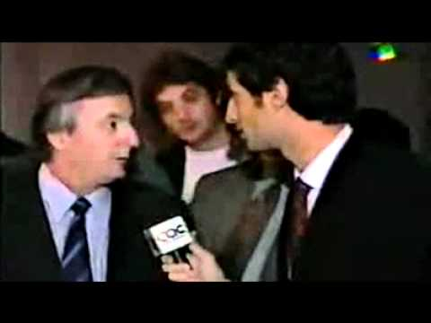 Daniel Tognetti interpela y chicanea a Néstor Kirchner (1999)