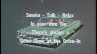 DRIVE IN MOVIE ADS FROM THE 50,s and 60,s