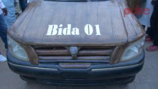 Convertible Wooden Car Built by a Nigerian Can Manage Fuel   Pulse TV Feature