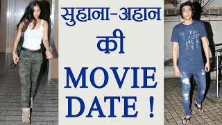 Suhana Khan and Ahaan Pandey enjoy their MOVIE DATE TOGETHER ! | FilmiBeat