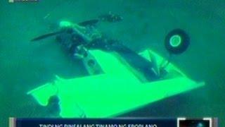 Saksi: EXCLUSIVE: Tindi ng pinsalang tinamo ng eroplano, nakunan ng underwater video