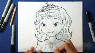 Comment dessiner princess Sofia