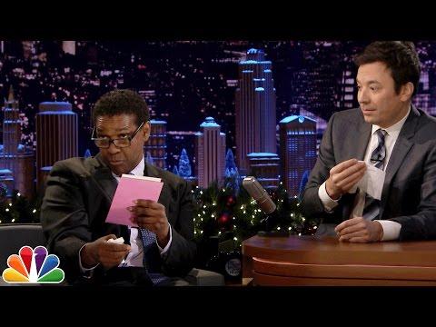 Denzel Washington Dramatically Reads Greeting Cards