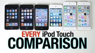 iPod Touch 6G vs 5G vs 4G vs 3G vs 2G vs 1G Speed Test Comparison