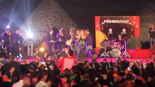 Crowd Camera - FIFA Concert - Myriam Fares singing Kifak Enta