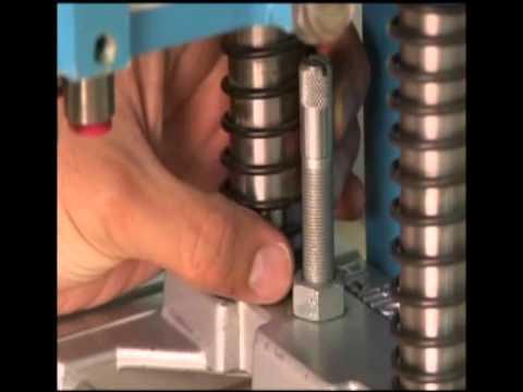 Furadeira Múltipla Blue Max Mini Hettich Pneumática com Base em Chapa Marchiori Comercial