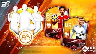 DOUBLE TOTW CAPTAINS! 89 SALAH AND 89 ICARDI! COMPLETING FULL TOTW! | FIFA MOBILE