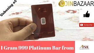 Platinum Bar 1 Gram RSBL (India-2017)
