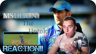A LIVING LEGEND!!| M.S Dhoni The Untold story official trailer REACTION! and REVIEW!!