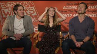 Zoey Deutch, Blake Jenner & Glen Powell talk Linklater