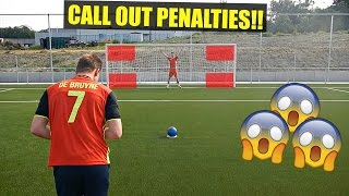 CALL OUT PENALTIES CHALLENGE VS PRO GOALKEEPER! | MIANDMORE