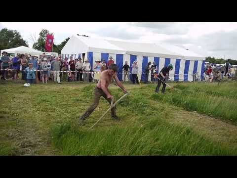 Scythe vs Brushcutter 1 - South West Annual Scythe Festival - June 2010