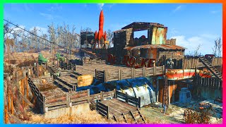 FALLOUT 4 BASE BUILDING - ULTIMATE Red Rocket Base W/ Full Armory, Weapons & MORE! (Fallout 4)