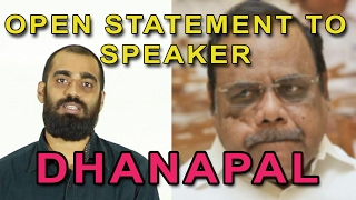 An Open Statement to Speaker Dhanapal | In Detail With Muthu | Vlog | Madras Central