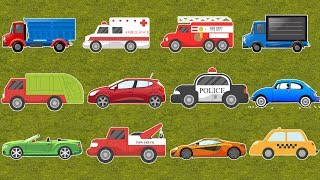 Street Vehicles For Kids - Learn Colors and Names with Cars, Trucks, Fire Engines, Pickup Trucks