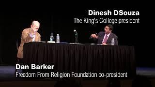 Athiest Dan Barker Debates Christian Dinesh D'Souza - Cross Examination Highlights