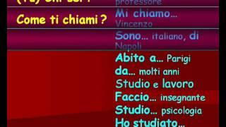 Cours d'Italien 04 - Se présenter et poser des questions simples