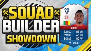 FIFA 17 SQUAD BUILDER SHOWDOWN!!! LEGENDARY FUT BIRTHDAY ETO'O!!! 90 Rated Special Eto'o Squad Duel