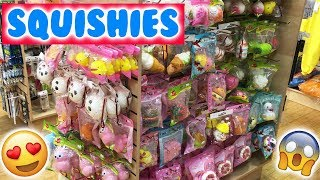 SO MANY SQUISHIES AT THE MALL! Justice Shopping and Tokyo World Squishy Hunt!