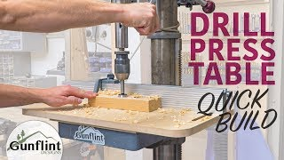 Simple Drill Press Table & Fence - Quick Build