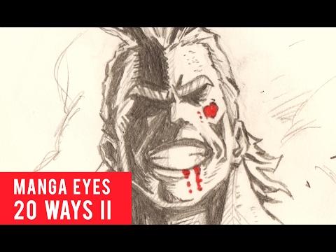 20 Ways Drawing Manga Eyes [PART 2]
